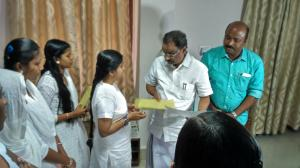 Press Release - students and a k balan minister in delhi (1)